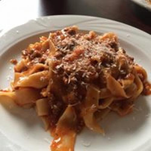Hand made Fettuccine with Bolognese sauce